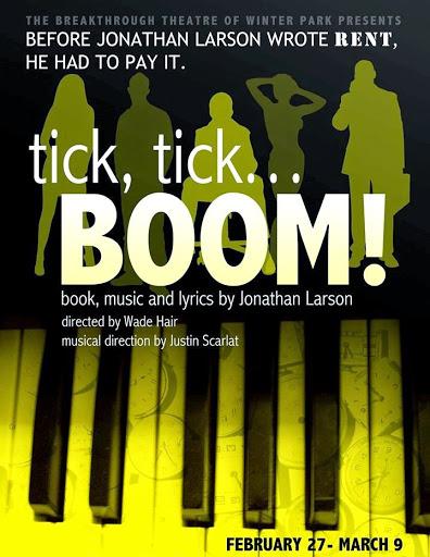 Breakthrough Theatre Presents Jonathan Larson's Tick, Tick...Boom!