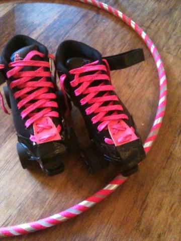 pink roller derby skates