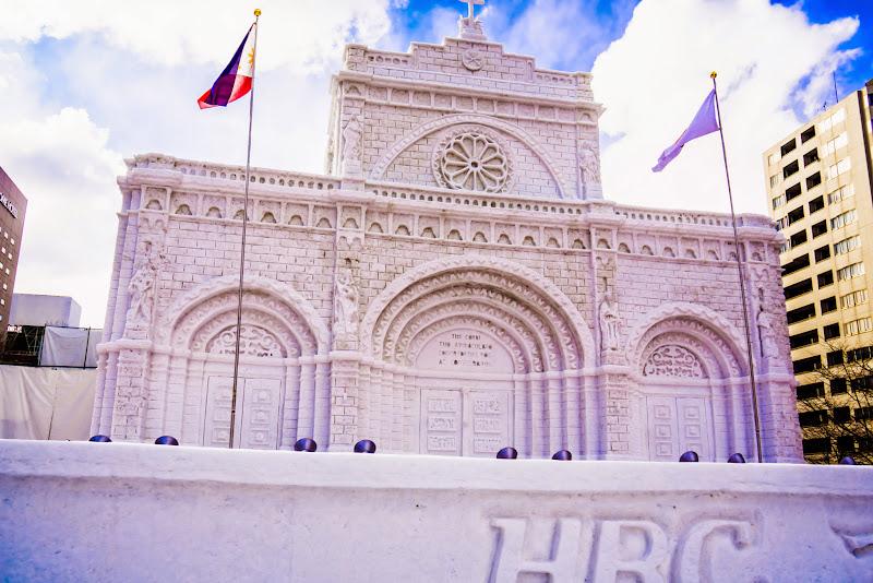 さっぽろ雪まつり マニラ大聖堂 写真1