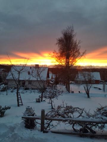 solnedgång, fantastiskt, vår värld
