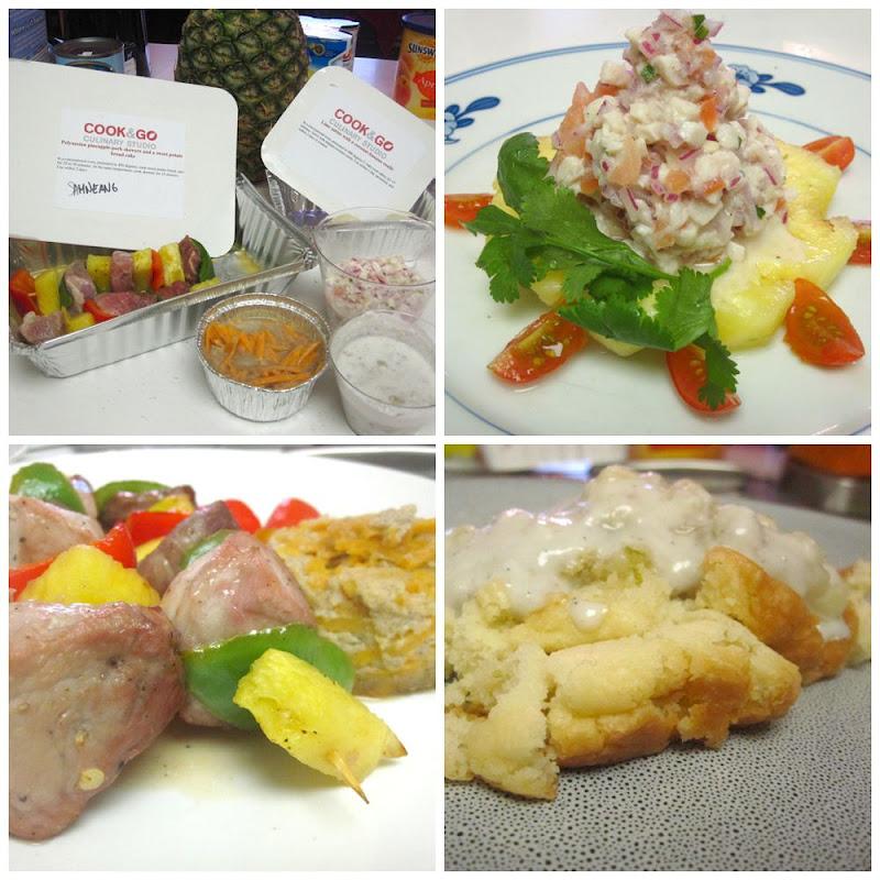 Polynesian menu at Cook & Go