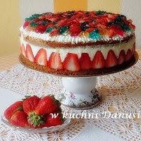 tort letni z masą mleczno-smietanową