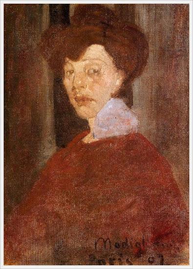 Amedeo Clemente Modigliani (Italian, 1884-1920) «Portrait of a Woman» 1907