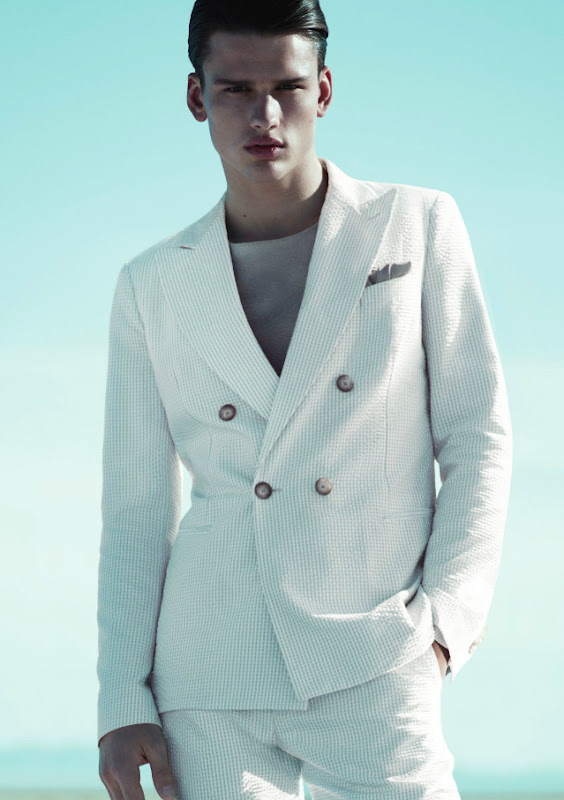 Simon Nessman @ Soul by Mert & Marcus for Giorgio Armani S/S 2012.  Styled by George Cortina.