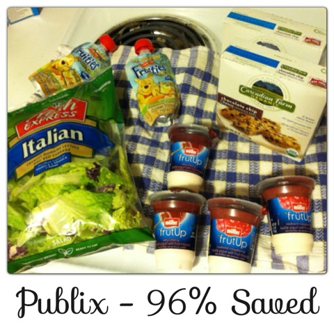 Publix Extreme Couponing 96% Savings