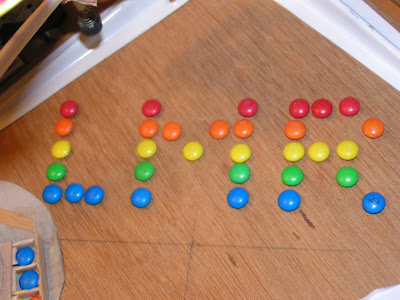 LMR written with m&m's