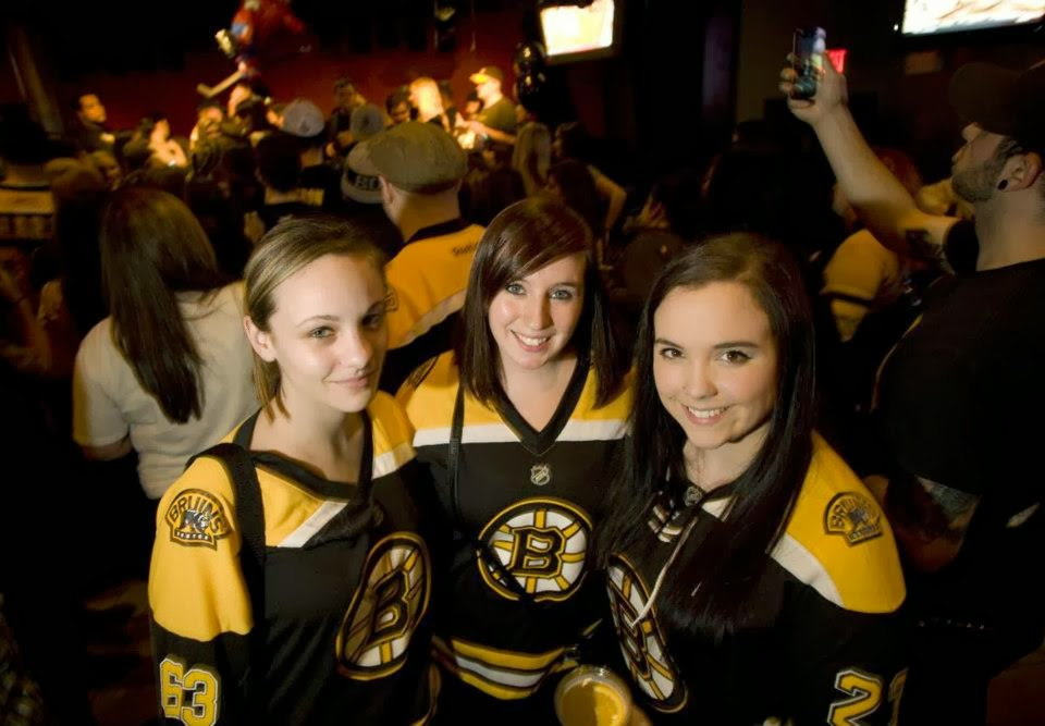 Bruins fans rock
