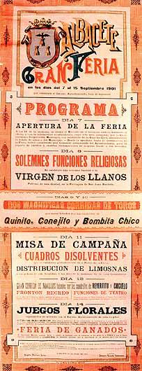 Cartel Feria Albacete 1901