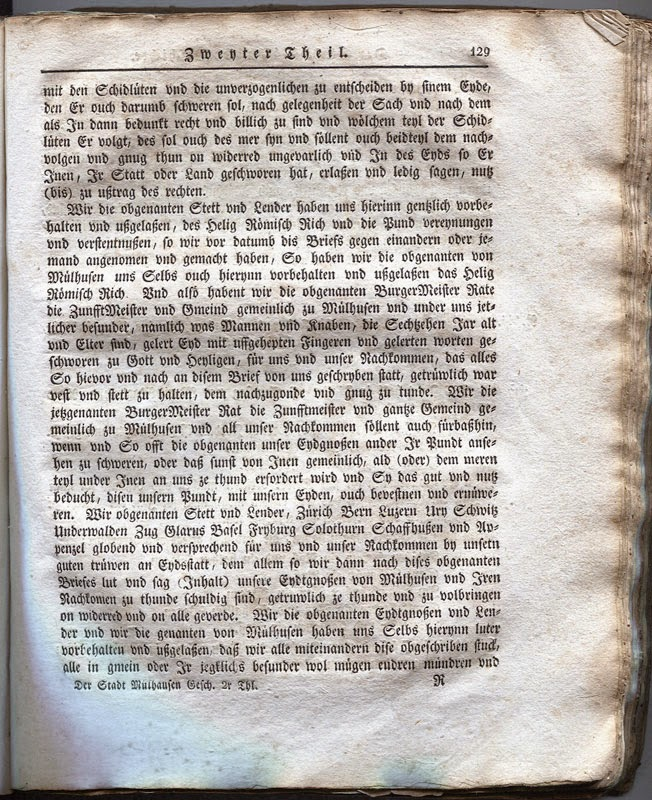 Page 129 de la Transcription de 1817