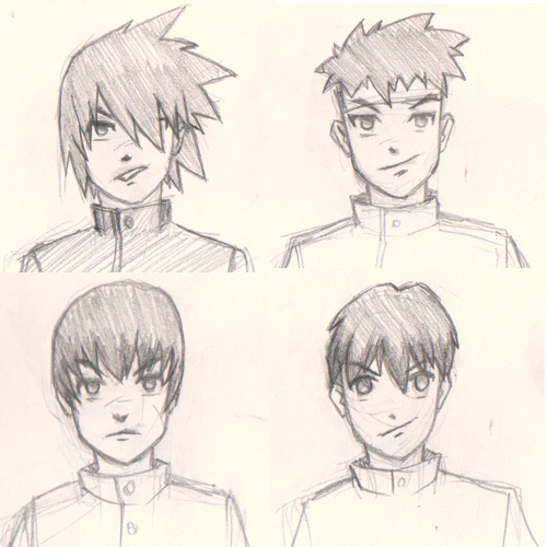 Draw Manga Hair 4 Different Ways For Male Characters
