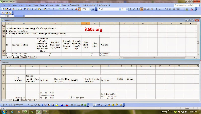 Cách tùy chỉnh cửa sổ làm việc của bảng tính Excel 6
