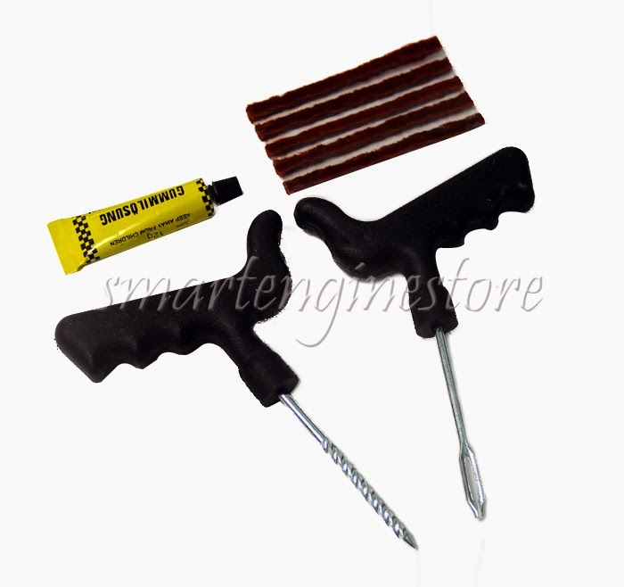 Balance Ball Repair Kit: Tubeless Flat Car Tire Repair Plugs Kit Rasp Tool Insert