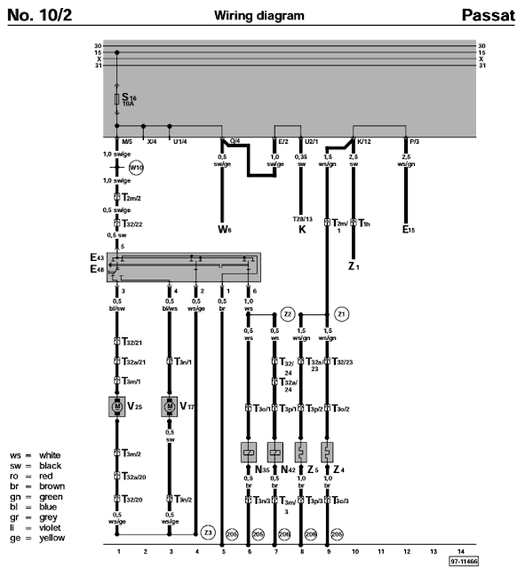 Need Help Wiring B3 Power Mirrors In My