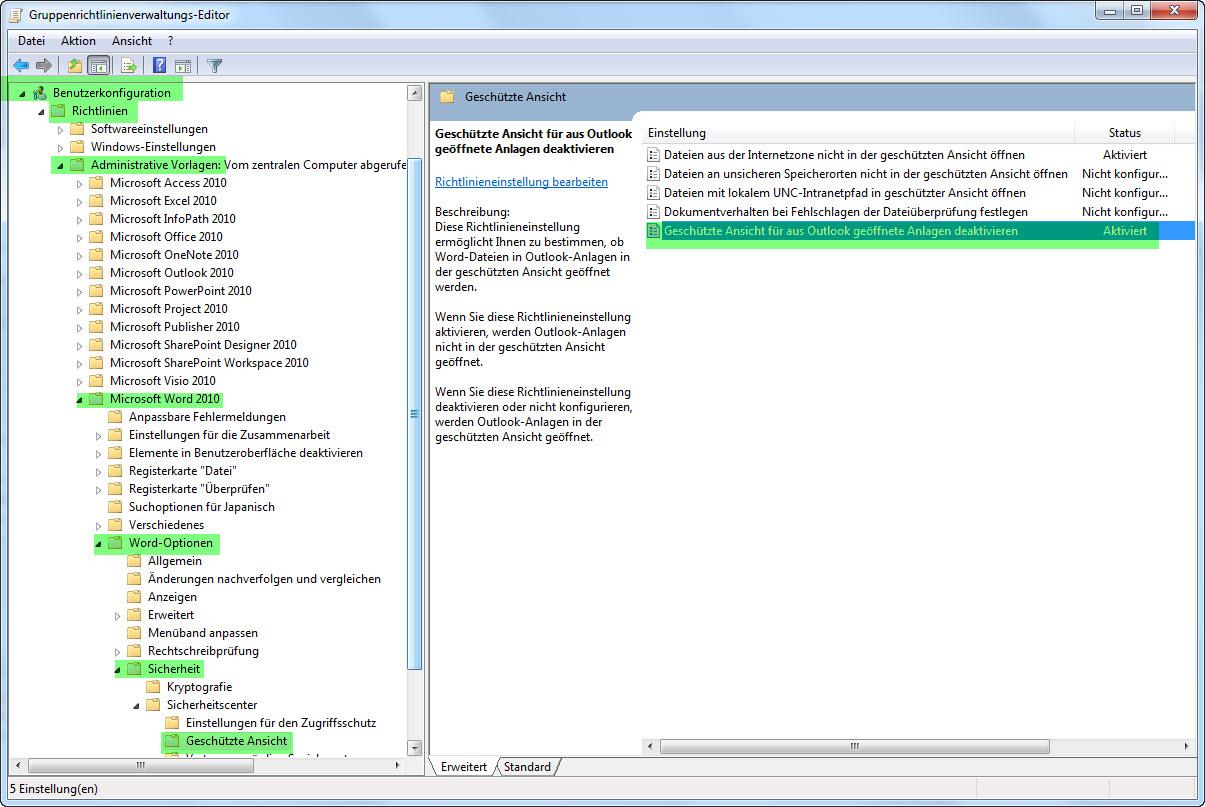 ICT Blog by flowest: Office 2010 - wichtige Gruppenrichtlinien ...