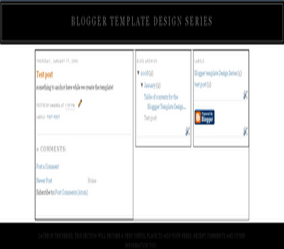 Style Your Blogger Template Header and Footer Sections