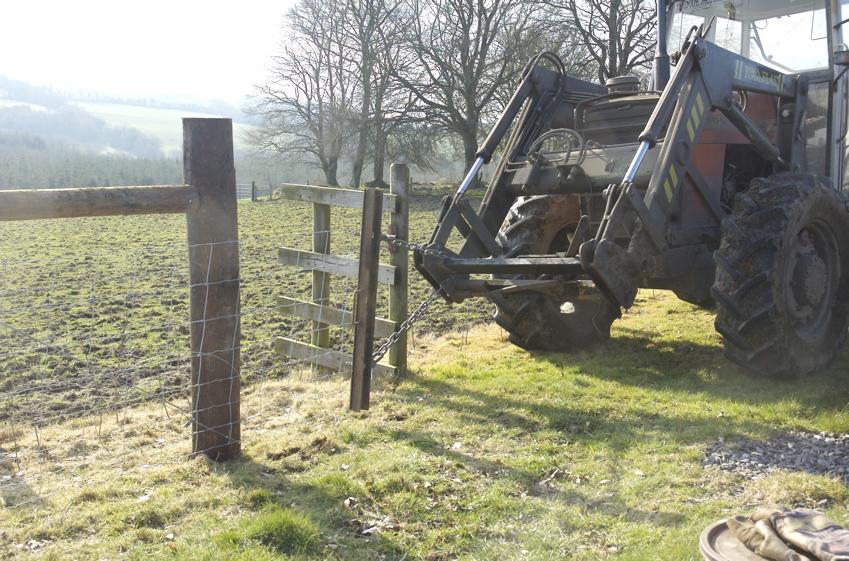 LOUGH BISHOP HOUSE & ORGANIC FARM: Fencing - Stage 2