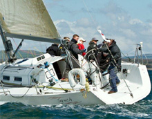 J/109 sailing around Ireland Race