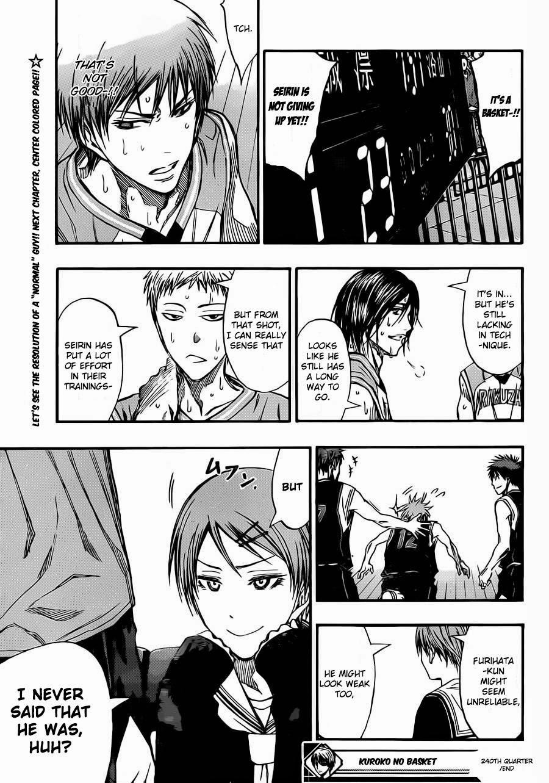 Kuroko no Basket Manga Chapter 240 - Image 19