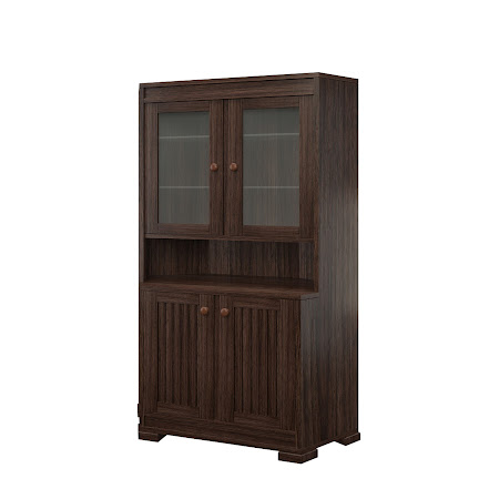 Hillside Corner Cabinet in Stormy Walnut