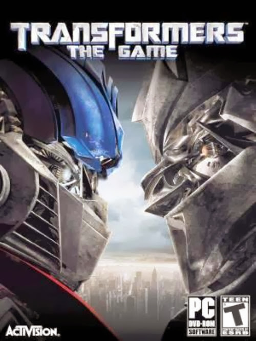 Cover Of Transformers The Game (2007) Full Latest Version PC Game Free Download Resumable Links at Alldownloads4u.Com