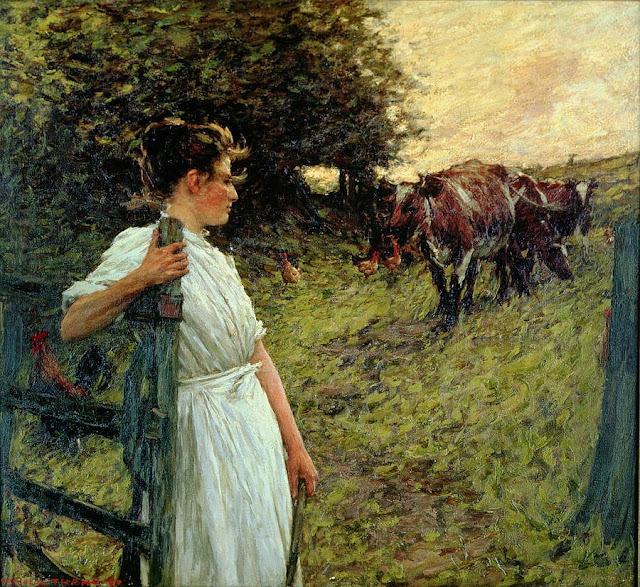 Henry Herbert La Thangue - The Farmer's Daughter
