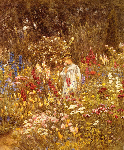 Helen Allingham - A Cottage Garden
