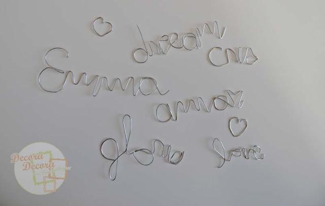 Cómo hacer palabras y nombres para decorar.
