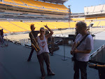 It was so we could practice the new sax solo.   UT shirt at Steelers stadium...is that wrong?