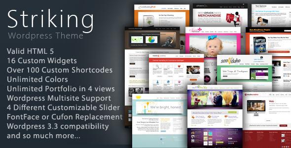 Themeforest Striking Premium Corporate & Portfolio WP Theme v5.1.2