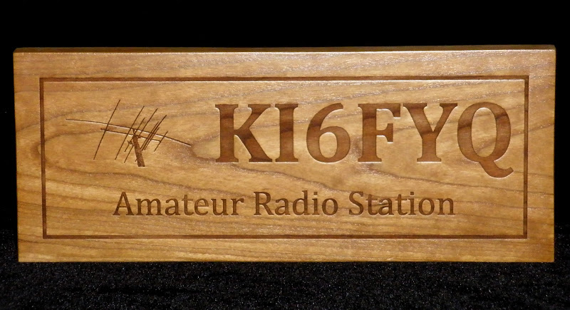 Medium Laser Engraved Call Sign Wall Plaque