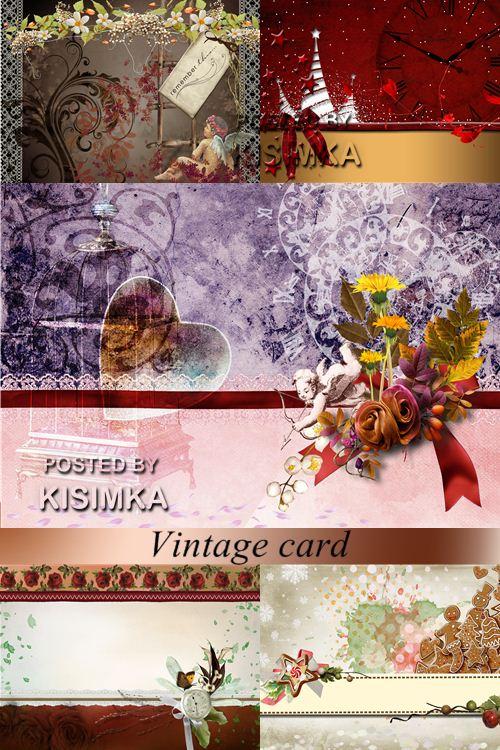 Stock Photo: Vintage celebratory cards