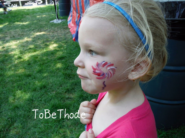 fireworks face paint