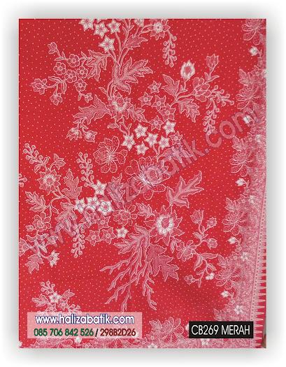 Baju Batik Terbaru, Seragam Batik Kantor, Grosir Batik, CB269 MERAH