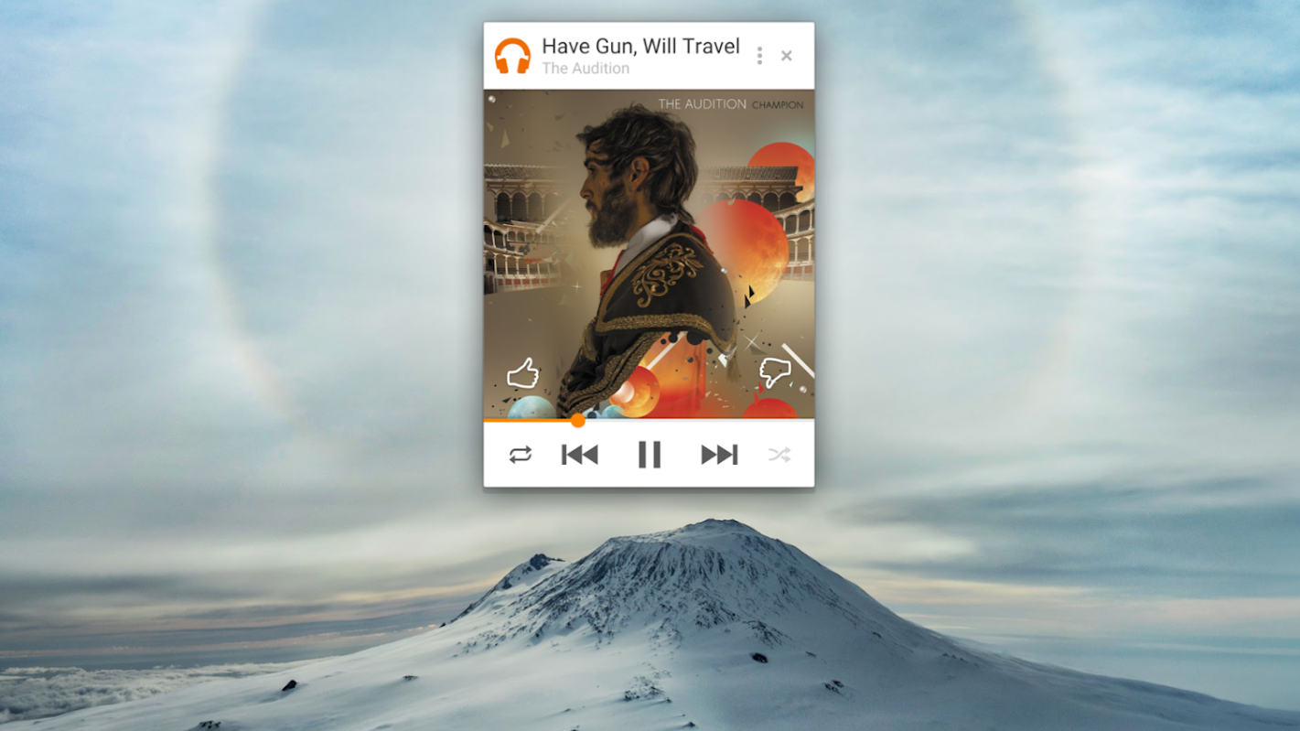 Google Play Music Miniplayer