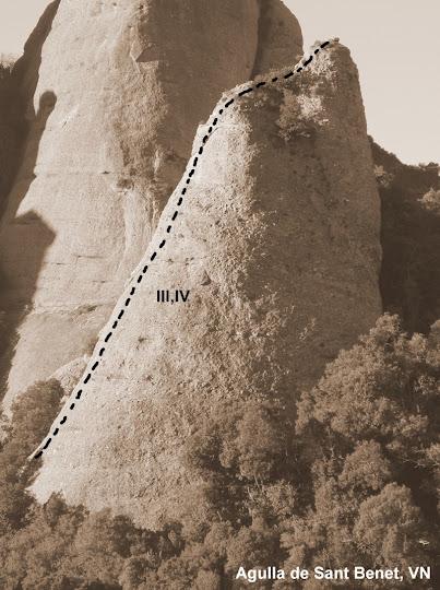 Agulla de Sant Benet, via Normal