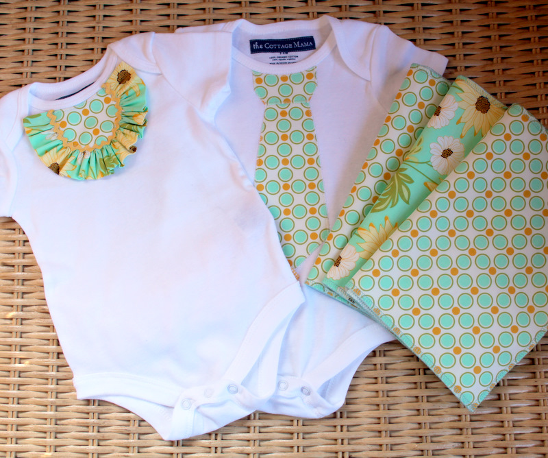 Twin Boy and Girl Onesie Tutorial - The Cottage Mama