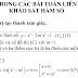 Các bài toán liên quan đến tam giác trong khảo sát hàm số