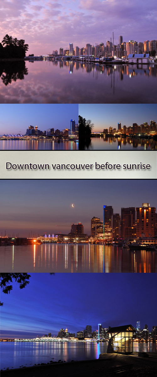 Stock Photo: Downtown Vancouver before sunrise