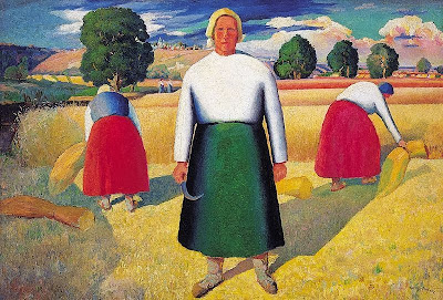 Kazimir Malevich - Reapers, 1929