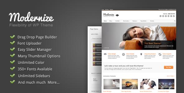 Themeforest Modernize - Flexibility of Wordpress v1.13