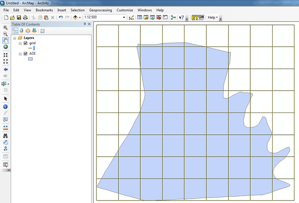 vektor grid arcgis 10