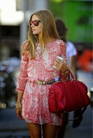 Stylish dress with matching handbag and sunglasses