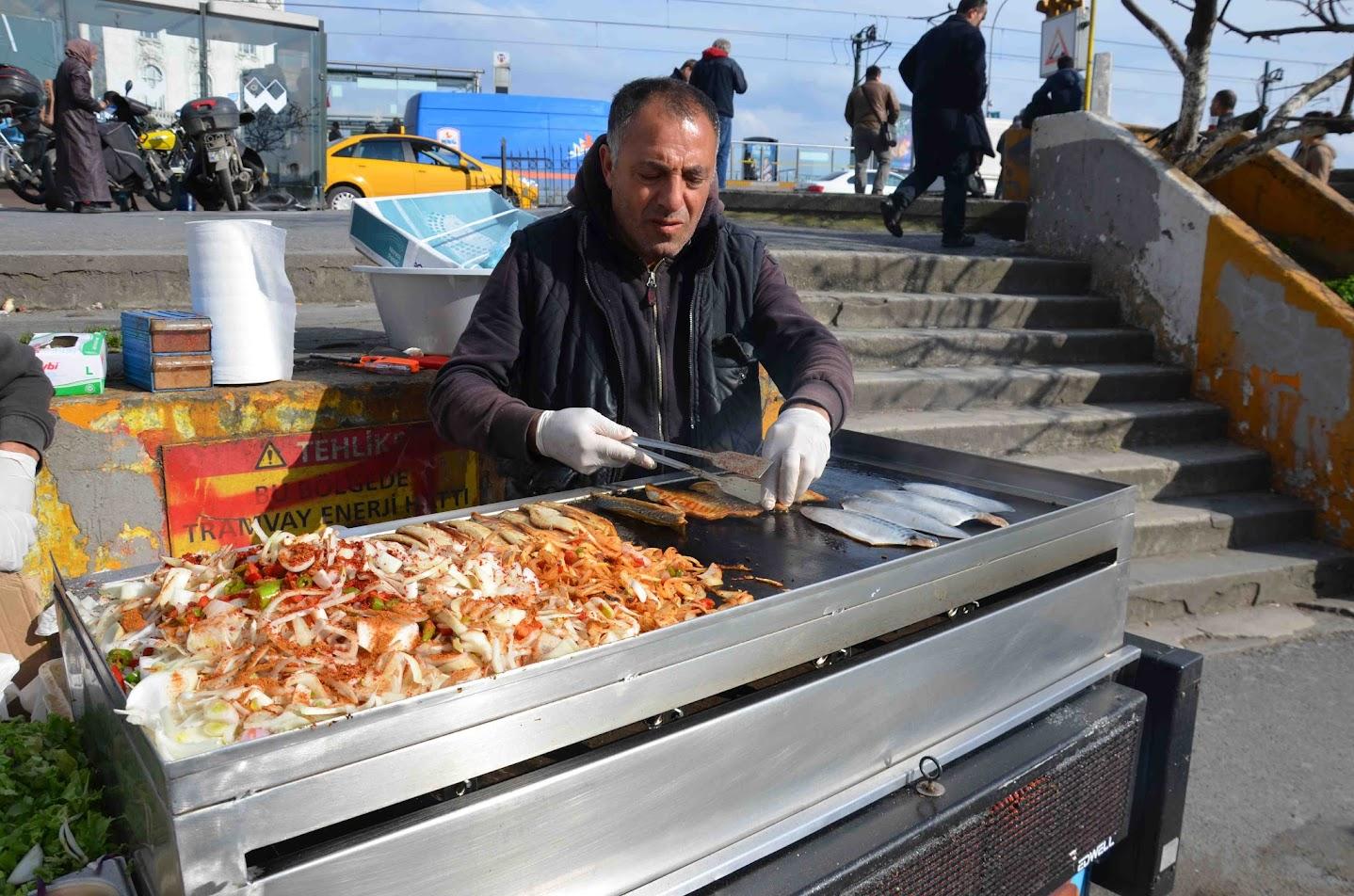 Balik Ekmek o Fish Kebab (Caballa)