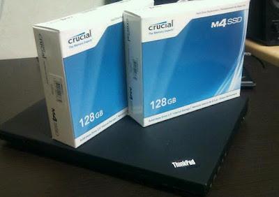 X61,SSD Crucial M4 128GB入手!
