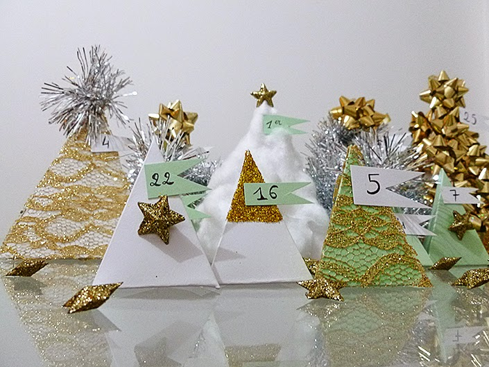 DIY advent calendar, original and cute advent calendar, make your own christmas decorations, christmas decor tutorial, paper pyramids