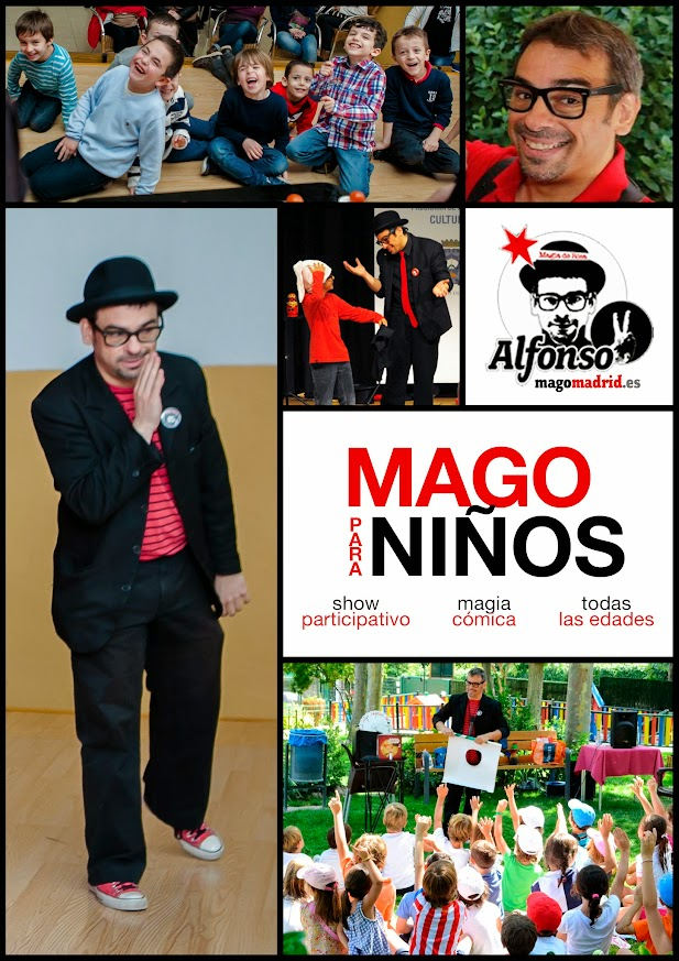 Cartel mago para niños en Madrid