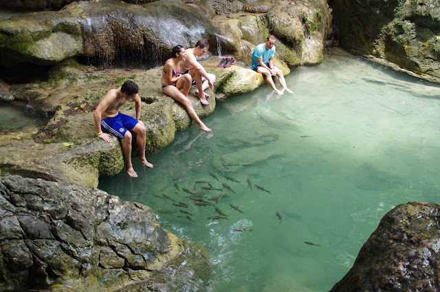 Blog de voyage-en-famille : Voyages en famille, Kanchanaburi : les chutes d'Erawan