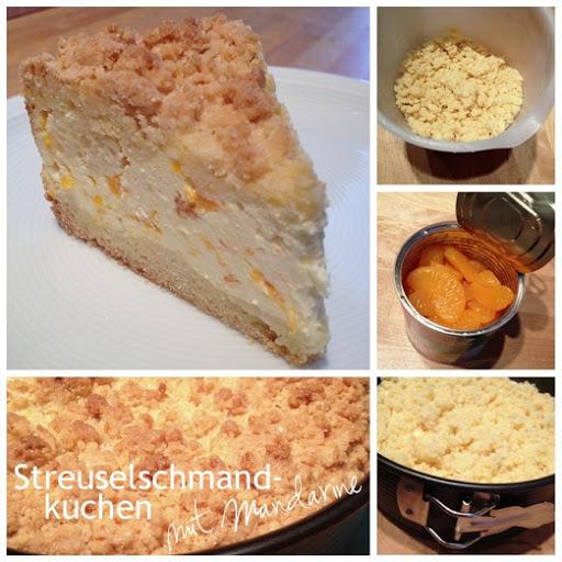 Streuselschmandkuchen mit Mandarinen