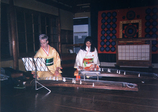 Lash playing Koto in Japan - #WorkAbroadBecause it will open your mind!