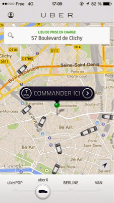 logo uber application chauffeur taxi apps esetban